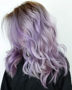 Long Layered Lilac Hair