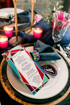 Glam Jewel Tone wedding inspiration   Bespoke-Bride: Wedding Blog Star Wedding, Wedding Blog, Lemon Sorbet, Jewel Tone Wedding, Mushroom Sauce, Geometric Wedding, Gray Weddings, Jewel Tones, Bespoke