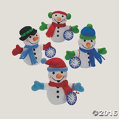 Mini snowmen party favors for Winter ONEderland