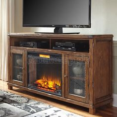 tamonie tv stand with fireplace - Google Search
