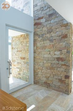 Let natural elements in and create a seamless transition between ancient & modern, indoors & outdoors and durability & luxury. Our Aspen loose stone walling is the ultimate example in this Kingscliff Villa. See the full project on Houzz Stone Cladding Exterior, Sandstone Cladding, Natural Stone Cladding, Natural Stone Wall, Wall Exterior, Dream House Exterior, Sandstone Wall, Indoor Stone Wall, Stone Feature Wall