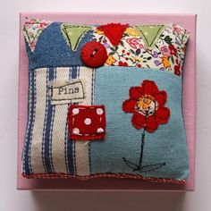 Pretty eclectic look—lavender scented pincushion❣ PANTSANDPAPER • folksy.com