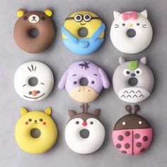 Cute donuts Donuts Cute desserts Cute baking Food Yummy food 15 which one Disney Desserts, Baking Desserts, Delicious Donuts, Yummy Food, Comida Disney, Kreative Desserts, Cute Donuts, Donuts Donuts, Cute Baking