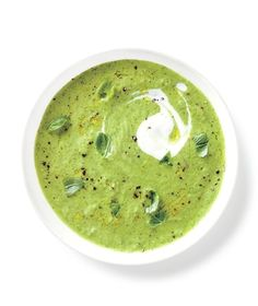 Zucchini Gazpacho With Basil and Yogurt recipe from realsimple.com #myplate #vegetables