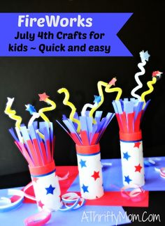 These look so fun to make with the kids before the 4th of July! 4th of july crafts for kids