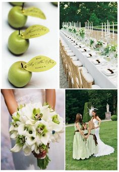Think about a green and white wedding ! | Weddings on the French Riviera