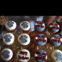 Mississippi State cupcakes a girl at work bought for me! Loved them!