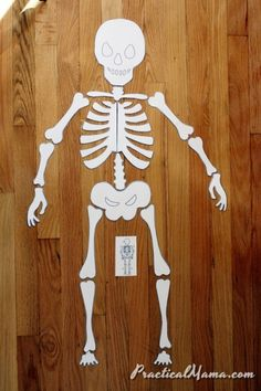 Halloween activity – Skeleton puzzle Skeleton puzzle, kids can enjoy and learn. Spanish Activities, Science Activities, Activities For Kids, Crafts For Kids, Skeleton For Kids, Skeleton Craft, Fall Halloween, Halloween Party, Human Body Science