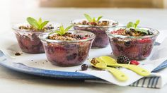 The topping for these berry-rich crisps is easily made by simply crumbling the Great Bear Paleo Bites used in this recipe. Great Bear Bites are available in our Bakery Department. Vegan Vegetarian, Paleo, Baking Cups, Gluten Free Recipes, Glutenfree, Crisp, Berries, Bakery, Dishes