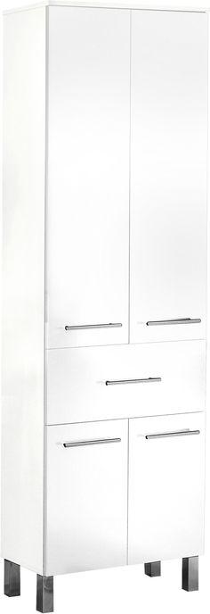 Badezimmerschrank mit zwei Schubladen Weiß-Grau Jetzt bestellen