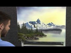 ▶ Paint with Kevin Hill - Sunrise in the Mountains wet on wet HD - YouTube