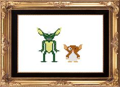Gremlins cross stitch pattern.  Haha, love it.  Updated:  Made this! I have to say, it was pretty awesome!