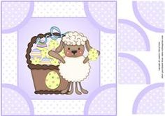 Easter Sheep with a Basket