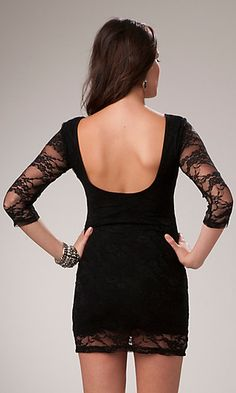 I love that the lace is on the arms and the bottom of the dress.
