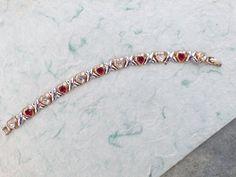 Signed Blanca Heart Bracelet mixed metals AB667 by MeyankeeGliterz on Etsy