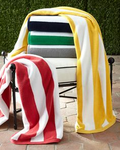 0f27e9ab9048 Cabana Stripe Beach Towel by Kassatex at Neiman Marcus. Bath Accessories,  Beach Cottages,