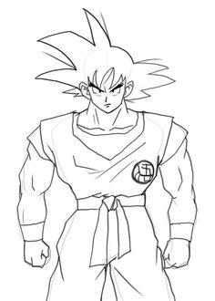Goku Drawing Easy Full Body : drawing, Dragonball, Ideas, Drawings,, Drawing,, Drawing