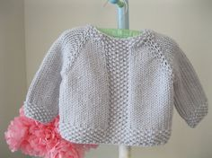 Handknit Baby Sweater..........pale grey seed by firstsnowflake