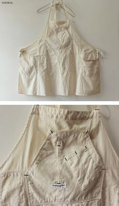 Apron | Off-white | Work | Pockets