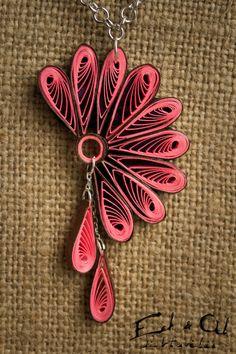 Color rosa papel enclavijada ecológico pendiente y joyería