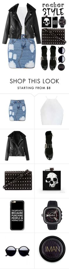 """""""#036 : rocker style"""" by selenawil ❤ liked on Polyvore featuring Zimmermann, Lanvin, Alexander Wang, Casetify, SevenFriday, Iman, rockerchic and rockerstyle"""
