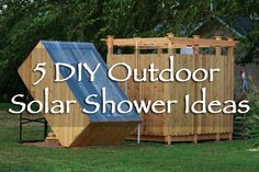 5 DIY Outdoor Solar Shower Ideas - something about showering outdoors it just seems so natural