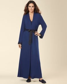 Limited Edition Sensuous Scroll Long Robe Medievel Blue