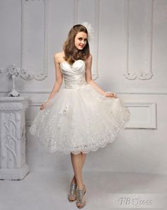 Beautiful Strapless Flower Lace-Up Sleeveless Wedding Dress  / la espalda de este vestido es preciosa.. y lo puedes ordenar rosado