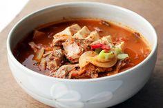Kimchi-Suppe mit Tunfsich