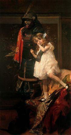 Belgian painter Herman Richir (1866-1942) - Guerre et Paix (War and Peace) c. 1914