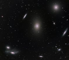 Some galaxies belonging to the Virgo Cluster, comprised of up to 2,000 galaxies.