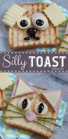 These easy breakfast and snack ideas for kids are super quick and healthy! Fun t… These easy breakfast and snack ideas for kids are super quick and healthy! Fun toast ideas that only require a handful of ingredients (bread, nut… Continue Reading → Easy Snacks, Healthy Snacks, Easy Meals, Breakfast Toast, Breakfast For Kids, Breakfast Ideas, Quick And Easy Breakfast, Breakfast Healthy, Food Humor