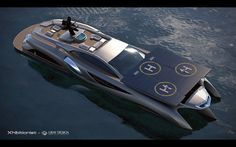 Xhibitionist luxury super-yacht by Gray Design, designed with the flowing lines of an Art Nouveau masterpiece and automotive styling. Images © Gray Design The… Yacht Design, Boat Design, Super Yachts, Design Transport, Ski Nautique, Yacht Boat, Sport Yacht, Yacht Club, Speed Boats