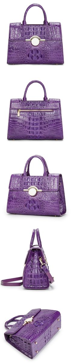 Crocodile Handbag,Crocodile Shoulder Bag, Crocodile Satchel Bag