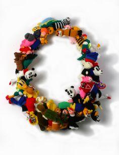 Lisa Walker - wool toy necklace