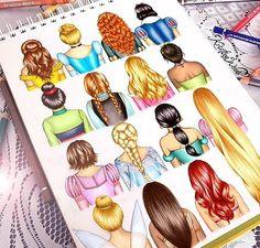 Disney princesses // heroines hair