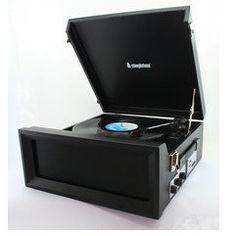 Steepletone 1960's/1970's Retro Style 3 Speed Record Player with Radio - Black