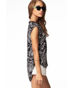 Damask High-Low Top   FOREVER 21 - 2061366344