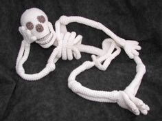 Realistic Bona Fide Skeleton Crochet Amigurumi by CraftyDebDesigns