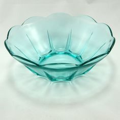 Swedish Modern Serving Bowl Turquoise Blue Vtg Anchor by charmings. $9.00 USD, via Etsy.
