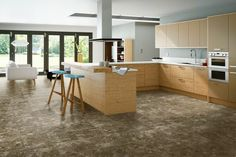 Sedimentary Travertine floor tile characterised by a medium cream to ...