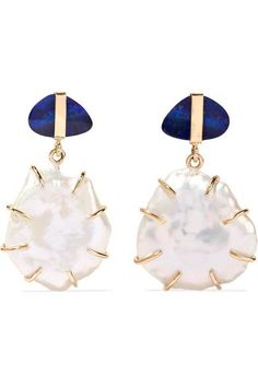 MELISSA JOY MANNING 14-karat gold, opal and pearl earrings. #melissajoymanning #