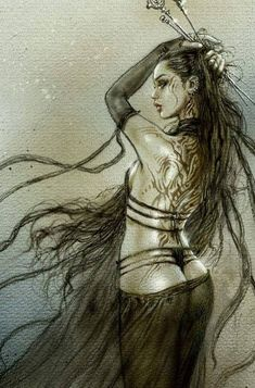 Discover recipes, home ideas, style inspiration and other ideas to try. Fantasy Girl, Fantasy Art Women, Beautiful Fantasy Art, Fantasy Warrior, Dark Fantasy Art, Fantasy Artwork, Fantasy Kunst, Luis Royo, Gothic Art
