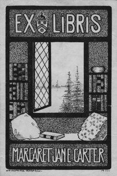Ex Libris Margaret Jane Carter. Creator: Rogers, Josephine