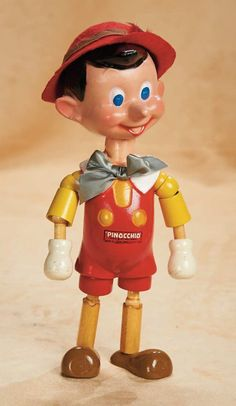 """American Composition """"Pinocchio"""" by Ideal with Original Box, circa 1940,  500/800 