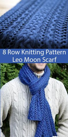 lace knitting Knitting Pattern for 8 Row Repeat Leo Moon Scarf - Scarf knit with an easily memorized 8 row repeat cable and lace pattern. Designed by Nat Raedwulf. Crochet Patterns For Beginners, Knitting For Beginners, Knit Patterns, Stitch Patterns, Free Scarf Knitting Patterns, Easy Patterns, Knitting Stitches, Magic Look, Hand Crochet