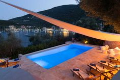 "Villa Sivota, Exclusive Villa on the Beach with 99"" Underground Cinema"