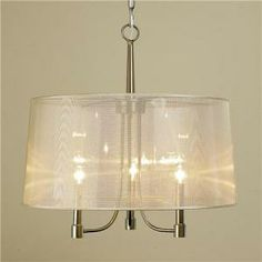 Shades of Light Sheer Champagne Chandelier