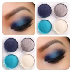 #eye makeup #blue #teal #taupe #pretty #beautiful