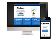 """#Responsive #website for a Finnish consultancy called Kitsilano: http://www.kitsilano.fi (in Finnish). In case you're wondering about the phone design of the mockup picture, it's Fairphone. Search """"fairphone"""" here at Pinterest or using your favourite search engine ;)"""